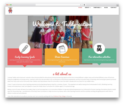 Magicreche WordPress theme - teddy-cation.co.uk