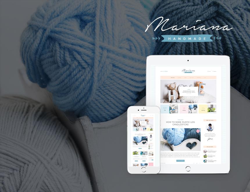 Mariana Handmade WordPress blog template