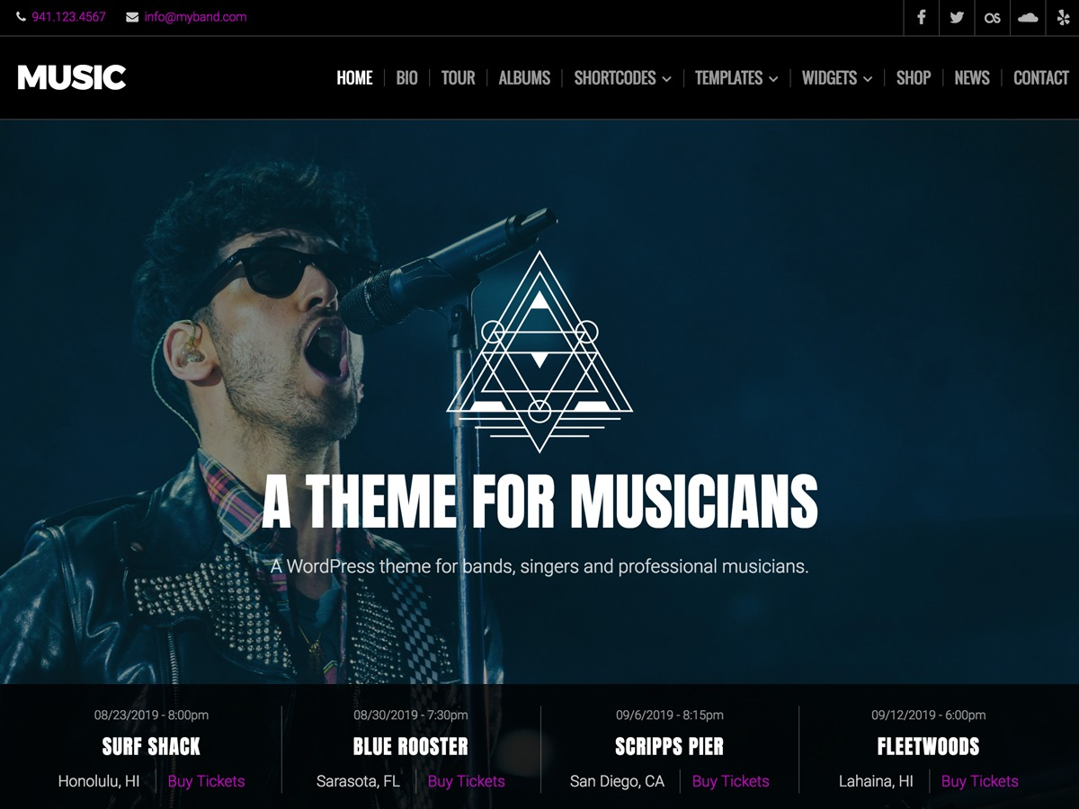 Music Lite premium WordPress theme