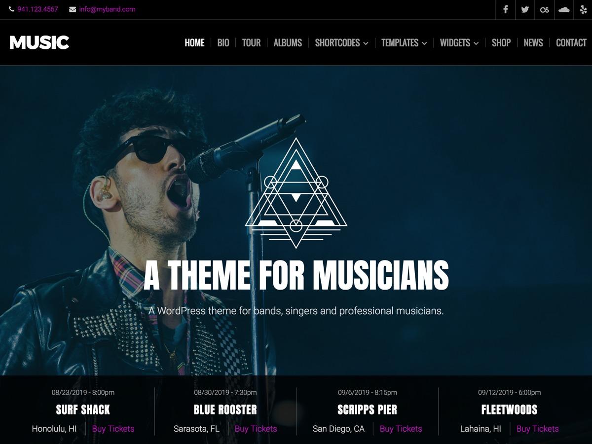 Music Lite premium WordPress theme