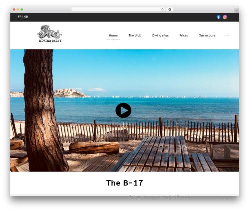 NavyBlue WordPress page template - divingcalvi.fr
