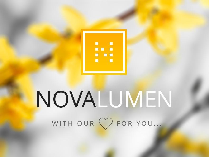 Novalumen WordPress template