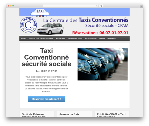 Responsive free WordPress theme - taxiconventionne-cpam.fr
