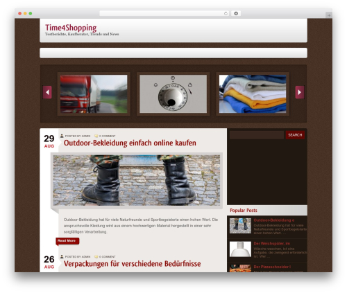 Rhea WordPress shopping theme - time4shopping.de