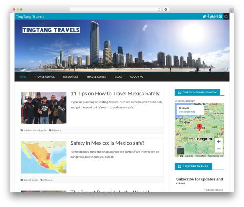 Ribosome Pro WordPress travel theme - tingtangtravels.com