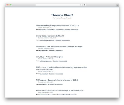 Simplr WordPress website template - throwachair.com