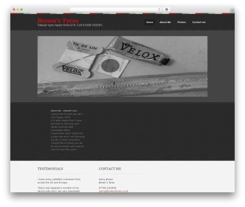 Swatch WordPress theme design - tubular-tyre-repair.com