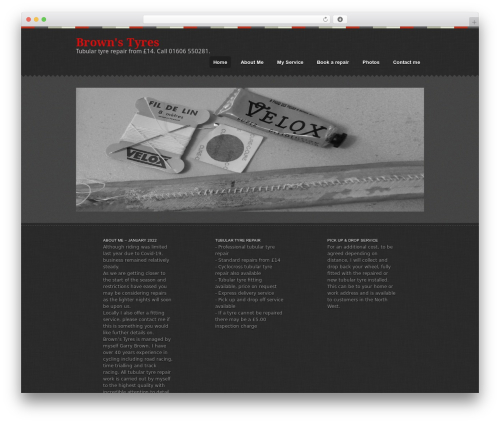 Swatch WordPress theme - tubular-tyre-repair.co.uk