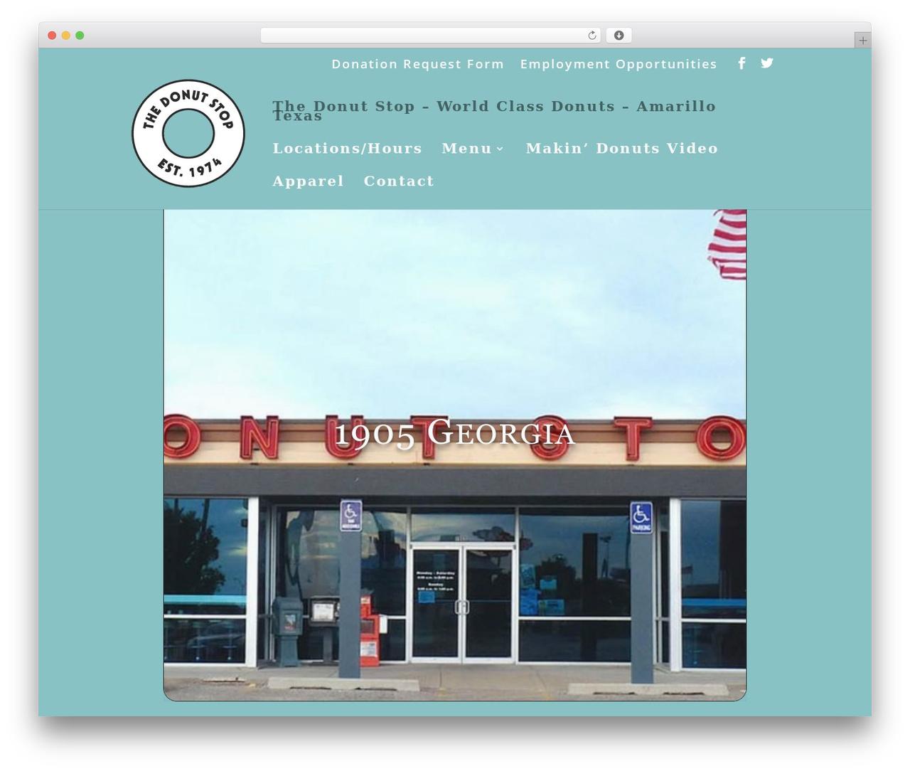 Template WordPress Divi - thedonutstop.com