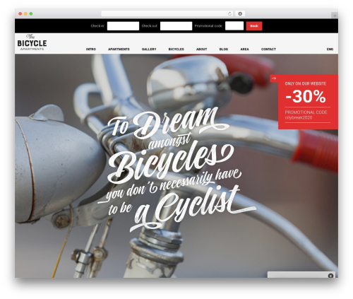 The Moon best WordPress theme - thebicycleapartments.com