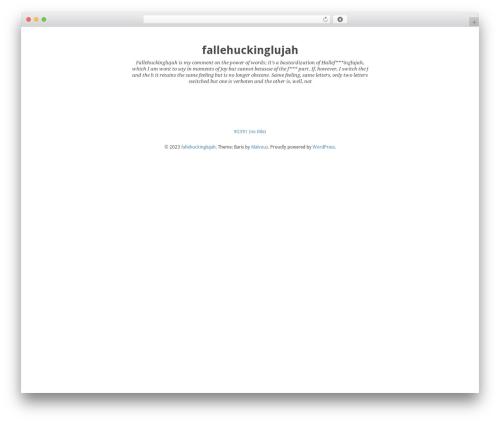 Theme WordPress Baris - fallehuckinglujah.net