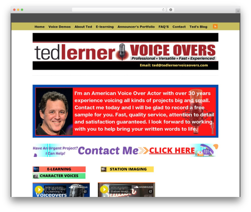 Theme WordPress WP-PinUp - tedlernervoiceovers.com