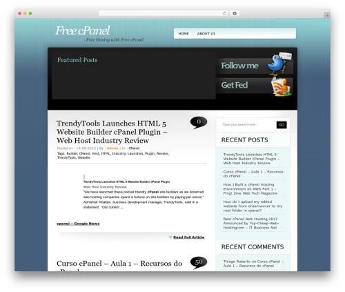 TweetMeBlue WordPress theme design - freecpanel.net