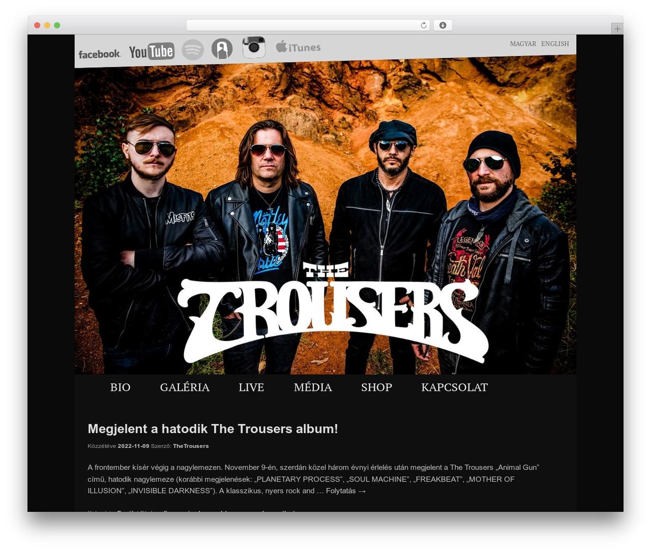 Twenty Eleven WordPress theme download - thetrousersband.com/hu