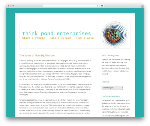 Twenty Twelve WordPress page template - thinkpond.org