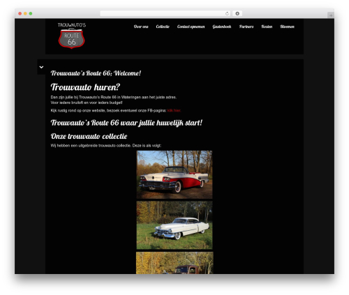 WordPress theme Black Label - trouwautosroute66.nl