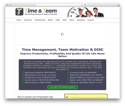 WordPress theme Modular - timeandteam.com