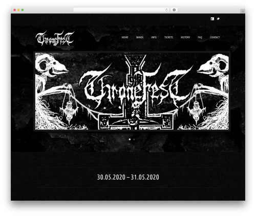 WordPress theme Music Pro - thronefest.be
