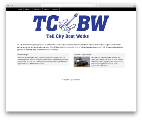 WP-Brilliance WordPress page template - tellcityboatworks.com