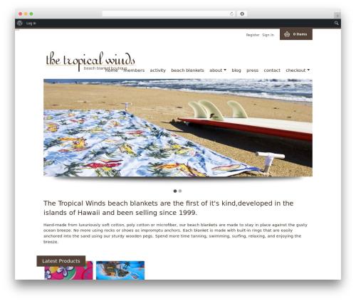 WP FlexiShop WordPress theme - thetropicalwinds.com