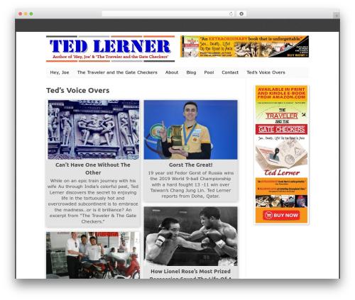 WP-PinUp WordPress theme - tedlerner.com