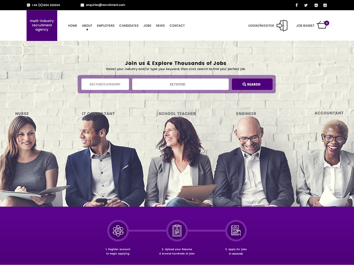 WP Recruitment WordPress theme