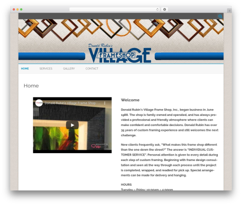 ZeroGravity free WordPress theme - thevillageframeshop.com
