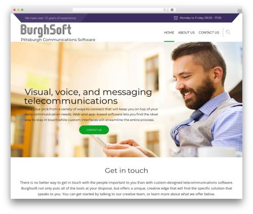 Advisor theme WordPress - burghsoft.com