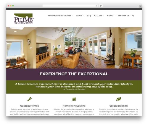 Artcore WordPress website template - plumbconst.com