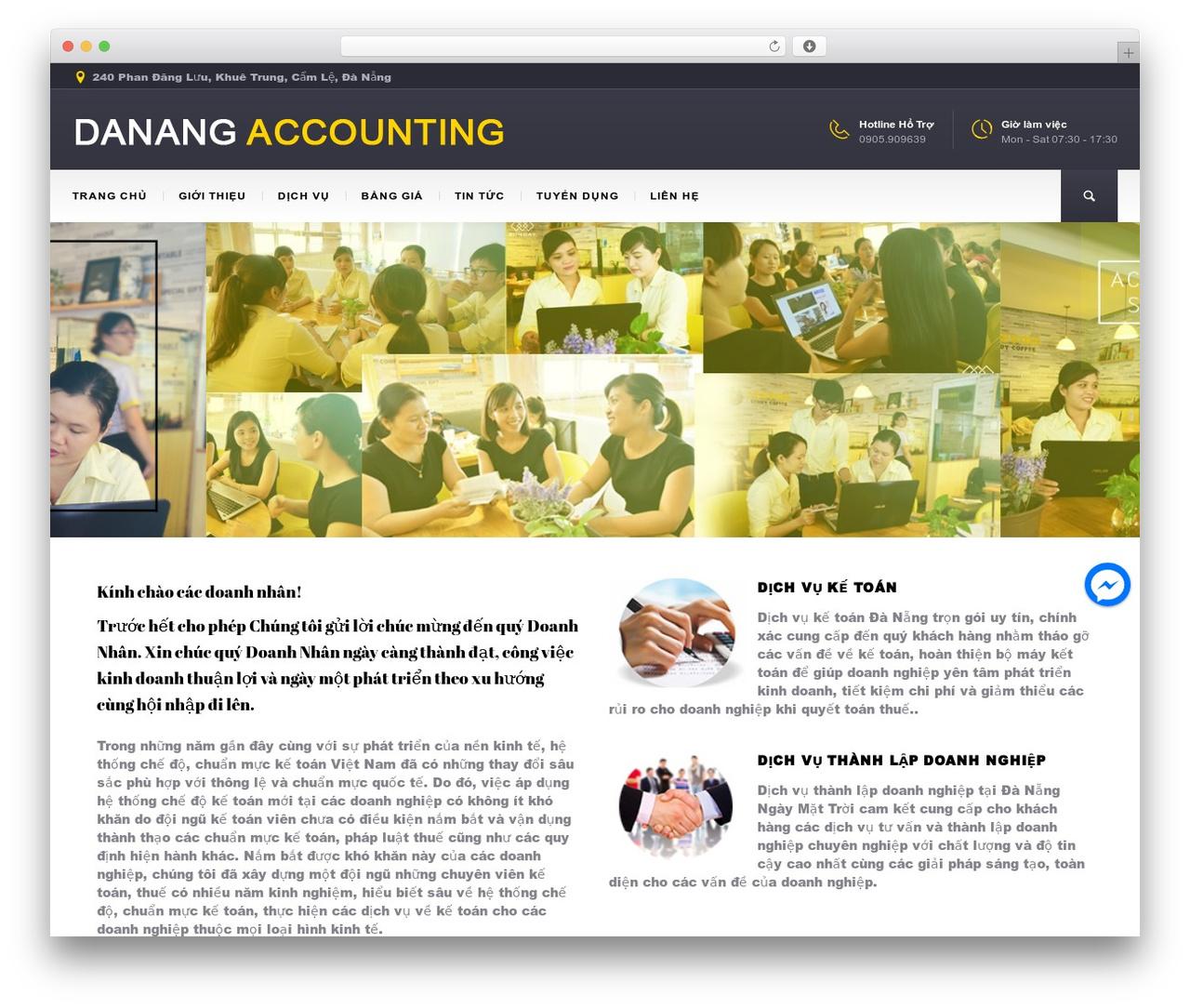 BuildMe WordPress template - danangaccounting.com