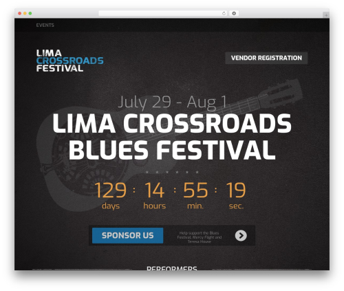 Fest WordPress website template - limabluesfest.com