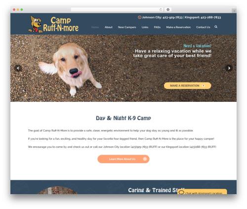Pet WordPress theme - campruffnmore.com
