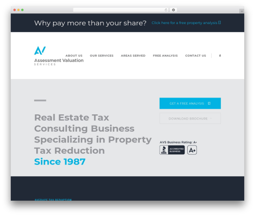 Pitch WordPress real estate - assessmentvaluationservices.com