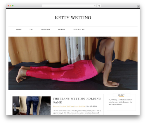 Pro Blog WordPress blog theme - kettywetting.com