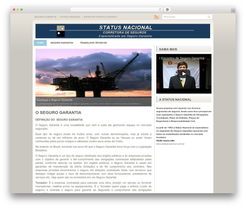 Sensation top WordPress theme - segurosgarantia.com