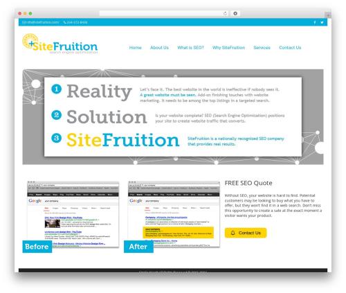 Smartr WordPress theme design - sitefruition.com