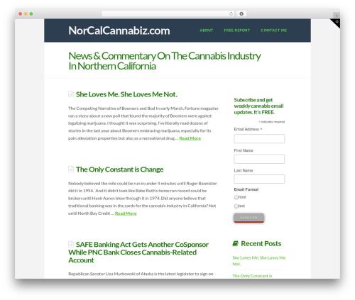 X company WordPress theme - norcalcannabiz.com