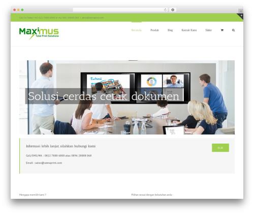 Avada WordPress template - sewaprint.com