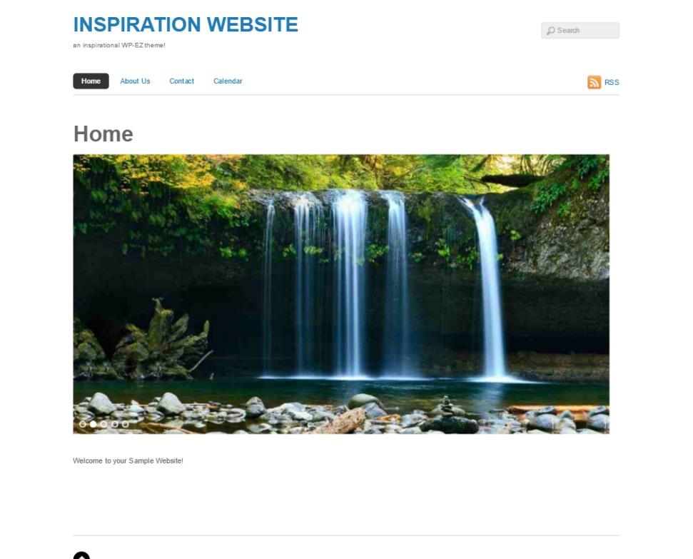 Basic WordPress page template