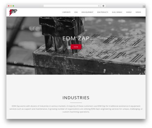 Blended WordPress website template - edmzap.com