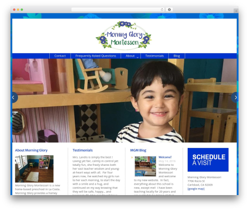 Education Hub WordPress theme - morningglorymontessori.com