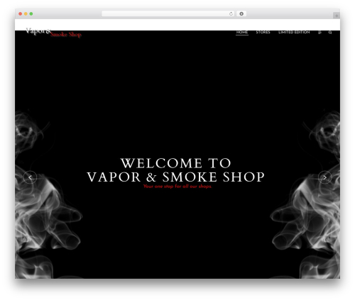 Etudes WordPress shop theme - vaporandsmokeshop.com