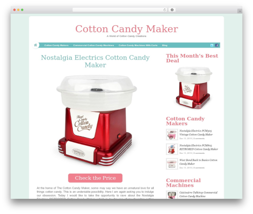 HyperSpace WordPress website template - thecottoncandymaker.com