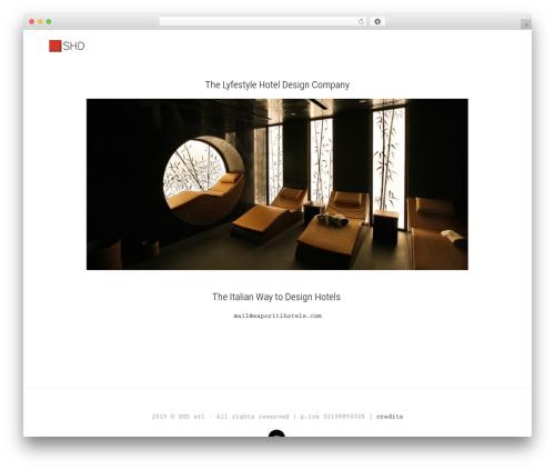 Legrand WordPress theme design - saporitihotels.com