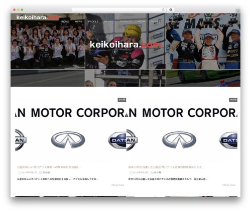 monomania WordPress theme - keikoihara.com