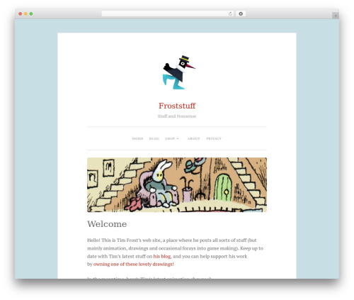 Penscratch 2 WordPress theme - froststuff.com