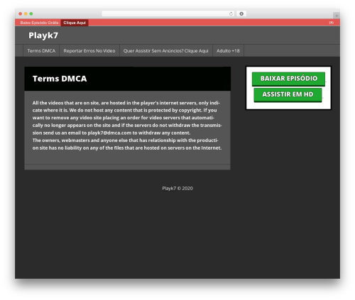Press Start WordPress free download - playk7.com