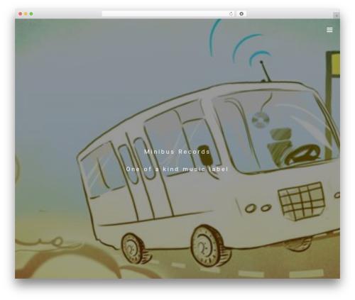 Roadie WordPress theme - minibusrecords.com