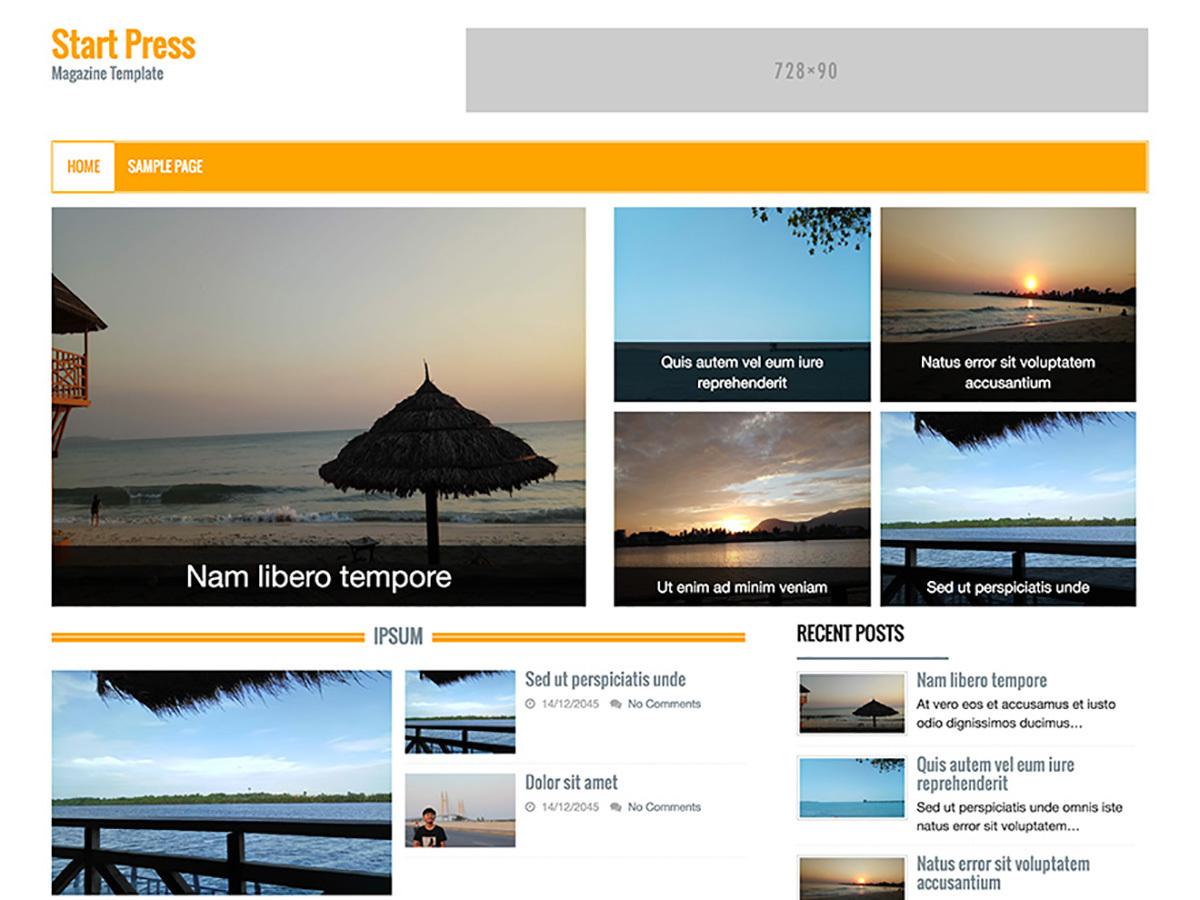 Start Press WordPress news theme