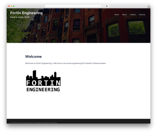 Sydney free WP theme - fortinengineering.com